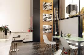 wine storage on wall in kitchen jpg