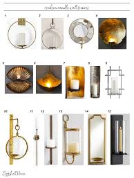 Electric Candle Sconce Eggshell Home Best Modern Candle Wall Sconces Round Up See Them