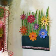buy a hand crafted handmade upcycled metal flower garden wall art