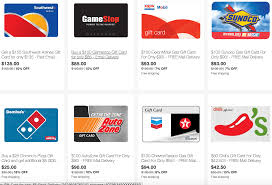 gas gift card ebay save on gift cards for gas southwest gamestop domino s