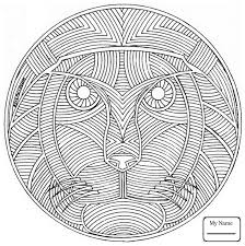celtic mandala with lion face arts culture coloring pages for kids