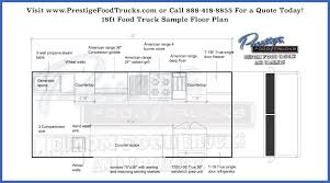 Spanish Floor Plans Custom Food Truck Floor Plan Samples Prestige Custom Food Truck