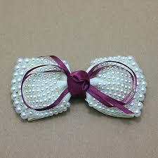 satin ribbon bows aliexpress buy girl pearls bows diy handmade satin ribbon
