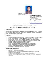 Electrical Resume Examples by Mohammad Rafiuddin Resume 1