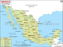 map of the mexico road map