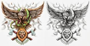 eagle snake lion tattoo design by crisluspotattoos on deviantart
