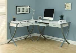 White Corner Workstation Desk Modern White Corner Computer Desk Decoration Design With Regard