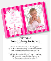 Princess Themed Invitation Card Handsome Princess Tea Party Invitation Template Features Party