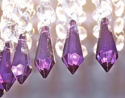 Glass Crystal Chandelier Drops 12 Purple Chandelier Drops Glass Crystals Droplets Torpedo Beads