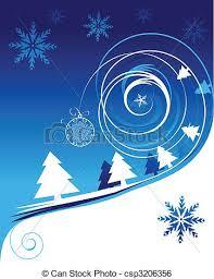 clip art vector of winter holiday christmas card csp3206356