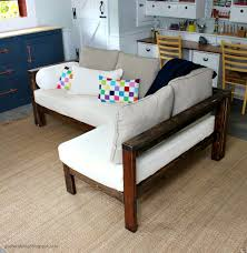 kids couch 2x4 diy sectional with crib mattress