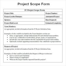 project scope example pdf project scope template