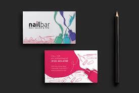 nail salon business card template for photoshop u0026 illustrator