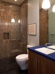 small doorless shower houzz
