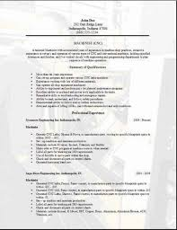 machinist resume sample find resume for computer operator job