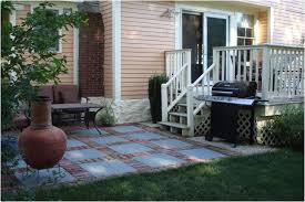 Backyard Cement Patio Ideas Backyards Ergonomic Peachy Image And Concrete Patio Design