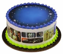wars edible image wars galaxy designer cake side strips by