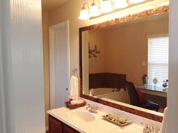 Frame Your Bathroom Mirror Gray Wall Paint Mirror With White Wooden Frame Wall Lamps Granite