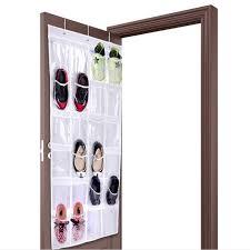 shoe rack hanging 24pockets clear hanging shoes organizer holder storage baseroom