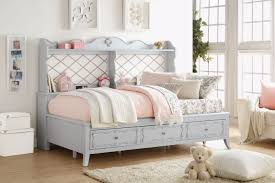 acme 39165 edalene gray twin daybed with storage