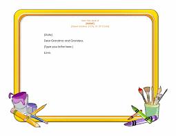 letterhead template word for children letterhead templates