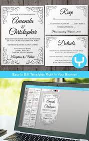 wedding invitations app vintage printable wedding invitation rsvp template you change