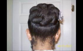quick easy style for short natural hair bunned updo medium hair