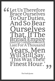 gratitude quotes churchill let us therefore brace ourselves to our duties and so bear