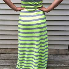71 off forever 21 dresses u0026 skirts neon yellow and grey striped