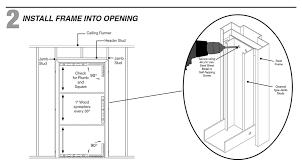 Rough Opening For Exterior 36 Inch Door by How To Install A Steel Door Frame Into Steel Stud Wall Protradecraft