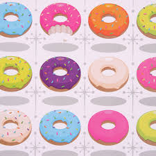 donut wrapping paper donut fast food single sheet wrapping paper with gift tag 15835