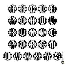 monogram car decal rimmed circle monogram car decal cling creative living
