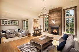 Rustic Living Room Design by Rustic Trim Molding Design Ideas