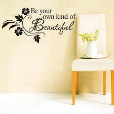 wall ideas plates on the wall as decor beautiful wall decals beautiful wall decor home diy be your own kind of beautiful quotes vinyl wall sticker modern