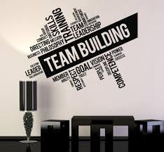 vinyl wall decal team building words cloud office art decor vinyl wall decal team building words cloud office art decor stickers ig4650