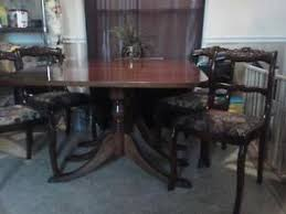 Drop Leaf Dining Table And Chairs Duncan Phyfe Furniture Ebay