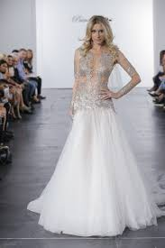 pnina tornai wedding dresses pnina tornai for kleinfeld silver illusion bodice a line wedding