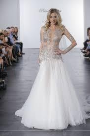 pnina tornai gown pnina tornai for kleinfeld silver illusion bodice a line wedding