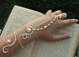 bracelet ring online images Slave bracelet with pearls quot princess quot wedding jewelry bracelet jpg