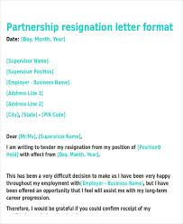business resignation letter template 8 free word pdf format