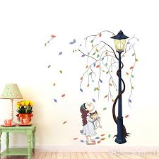 Cheap Wall Decals For Nursery Removable Hug Cat Flower Tree Wall Stickers Nursery Wall