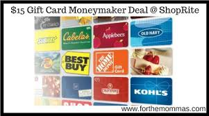 best deals on gift cards shoprite 15 gift card moneymaker deal starting 2 4