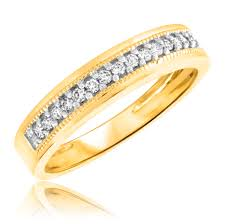 1 4 ct t w men u0027s wedding band 14k yellow gold
