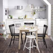 cheap white chairs with rustic wooden floor for small kitchen plan