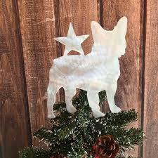 french bulldog star dog tree topper holiday decoration