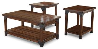 the brick coffee tables murphy 3 piece coffee and two end tables package freedom rent to own