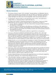 chapter 1 illustrative solutions internal audit audit