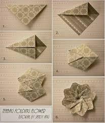 paper napkin flower tutorial how to fold paper teabag flower step by step diy instructions
