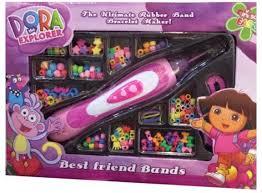bracelet maker with rubber bands images Dora rubber beads band bracelet maker for girls 8 years toys jpg
