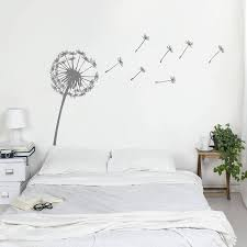 wall art stickers and decals notonthehighstreet dandelion wall sticker stickers